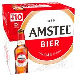 Amstel Lager Beer 12 x 300ml Bottles