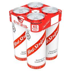 Red Stripe Jamaica Lager Beer 4 x 568ml Cans PMP