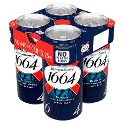 Kronenbourg 1664 Lager Beer 4 x 440ml Can