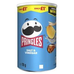 Pringles Salt & Vinegar Crisps 70g