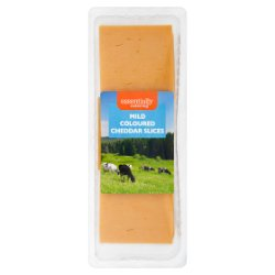 Essential Catering Mild Coloured Cheddar Slices