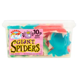 Buddies Giant Spiders Fruit Flavour Sweets