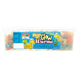 Buddies Fizzy Glow Worms Fruit Flavour Sweets