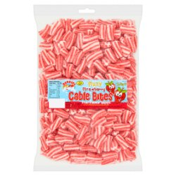 Buddies Fizzy Strawberry Cable Bites Fruit Flavour Sweets 1.5kg