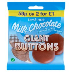 Best-One Milk Chocolate Giant Buttons 70g