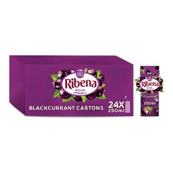 Ribena Blackcurrant Juice Drink Carton 250ml