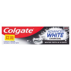 Colgate Advanced White Charcoal Fluoride Toothpaste 75ml PMP £2.00