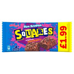 Kellogg's Rice Krispies Squares Delightfully Chocolatey 4x36g