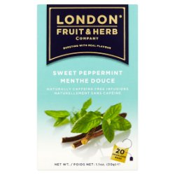 London Fruit & Herb Company Sweet Peppermint 20 Envelope Bags 30g