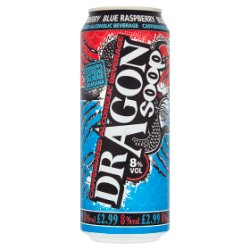 Dragon Soop Caffeinated Alcoholic Beverage Blue Raspberry 500ml
