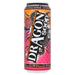 Dragon Soop Caffeinated Alcoholic Beverage Passion Fruit & Orange 500ml