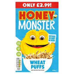 Honey Monster Wheat Puffs PMP £2.99 520g