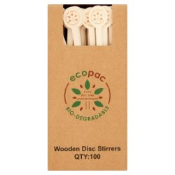 Ecopac 100 Wooden Disc Stirrers