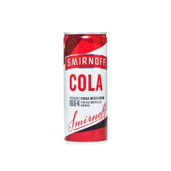 Smirnoff Red Label Vodka and Cola 250ml Ready to Drink Premix Can