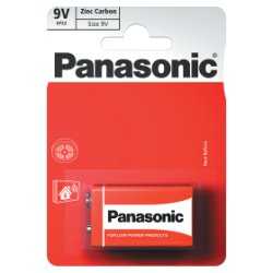 Panasonic 9V Zinc Carbon Batteries 1pk