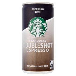 Starbucks Fairtrade DoubleShot Espresso Black 100% Arabica Coffee Drink 200ml