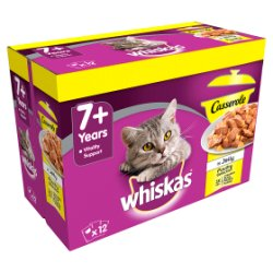 Whiskas 7+ Casserole Poultry Selection 12pk