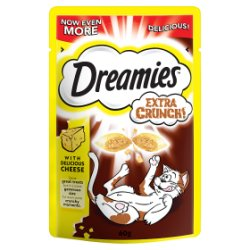DREAMIES Extra Crunch Cat Treats with Cheese 60g