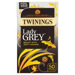 Twinings Lady Grey 50 Tea Bags 125g