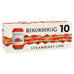 Rekorderlig Premium Swedish Strawberry-Lime Cider 10 x 330ml