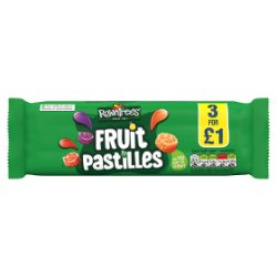 Rowntree's Fruit Pastilles Sweets Multipack 52.5g 3 Pack £1