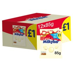 Nestlé® Milkybar® White Chocolate Giant Buttons Sharing Bag 85g