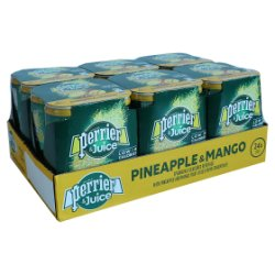 Perrier & Juice Sparkling Pineapple & Mango Water 6x4x250ml