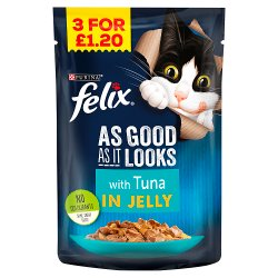 FELIX AS GOOD AS IT LOOKS with Tuna in Jelly Wet Cat Food 100g