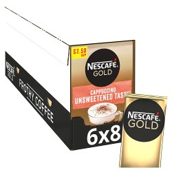 Nescafe Gold Cappuccino Unsweetened Instant Coffee 8 Sachets PMP £2.50