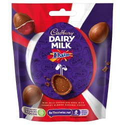 Cadbury Dairy Milk Miniature Daim Chocolate Easter Egg Bag 77g