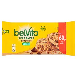 Belvita Breakfast Biscuits Soft Bakes Choc Chip 60p 50g