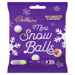 Cadbury Chocolate Mini Snowballs Bag 80g