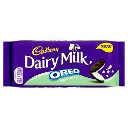 Cadbury Dairy Milk with Oreo Mint Chocolate Bar 120g