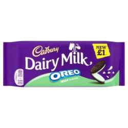 Cadbury Dairy Milk With Oreo Mint £1 Chocolate Bar 120g