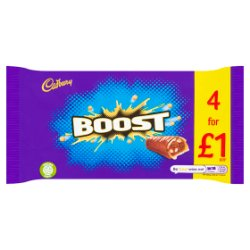Cadbury Boost Chocolate Bar 4 Pack £1 136g