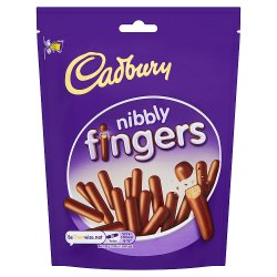 Cadbury Nibbly Chocolate Mini Fingers Biscuits 125g