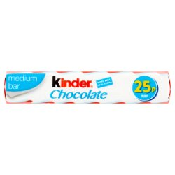 Kinder Medium Chocolate Single Bar 21g