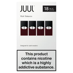 Rich Tobacco 18mg/ml JUULpods (Pack of 4)