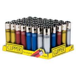 Clipper 40 Metallic Lighter