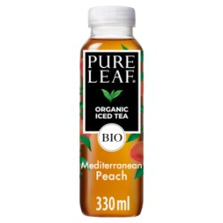 Pure Leaf Organic Iced Tea, Mediterranean Peach 330ml