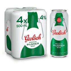 Grolsch Premium Pilsner Beer 4 x 500ml