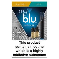 blu® myblu® Starter Kit Bundle 18mg/ml 2 x 1.5ml Intense Golden Tob & Menthol