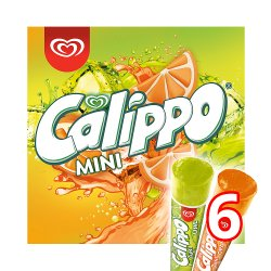 Calippo Orange & Lemon-Lime Ice Lollies 6 x 80 ml