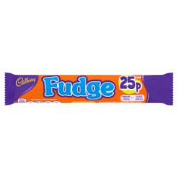 Cadbury Fudge 25p Chocolate Bar 25.5g