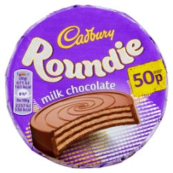 Cadbury Roundie Milk Chocolate Biscuit 50p 30g