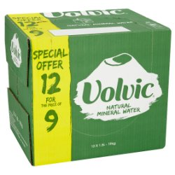 Volvic Natural Mineral Water Extra Value Pack 12 x 1.5L