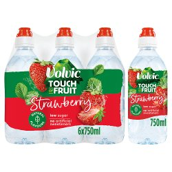 Volvic Touch of Fruit Low Sugar Strawberry Natural Flavour 6 x 750ml