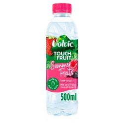 Volvic Touch of Fruit Low Sugar Summer Fruits Natural Flavoured Water 500ml