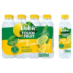 Volvic Touch of Fruit Low Sugar Lemon & Lime Natural Flavour 12 x 500ml