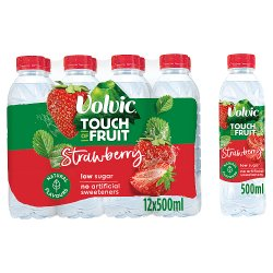 Volvic Touch of Fruit Low Sugar Strawberry Natural Flavoured Water 12 x 500ml